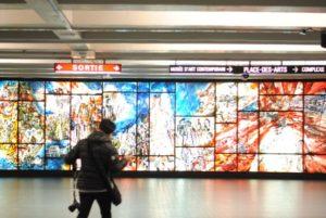 Arte en el metro de montreal