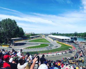 Vista de la pista del grand prix montreal