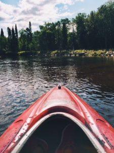 Kayak en el parque iles de Bucherville